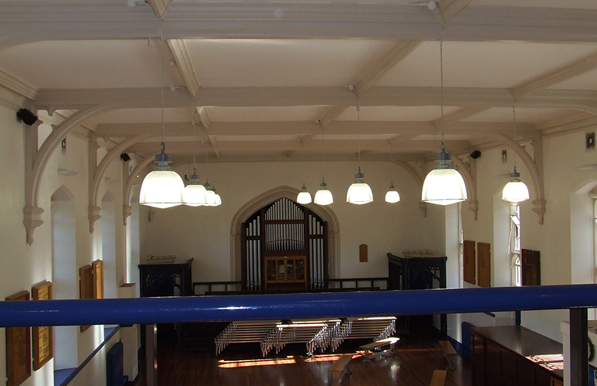 Lighting and wiring at Badminton School Bristol